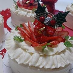 生菓子「クリスマスのフリルデコ」12月お薦めレッスン♪