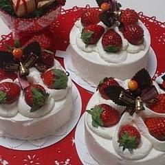 生菓子「苺たっぷりクリスマスケーキ」12月お薦めレッスン♪