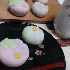 123和菓子「練り切り~姫菊&白菊~」9月コースレッスン♪