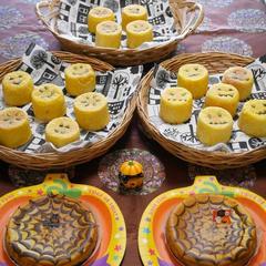 10月ハロウィンレッスン かぼちゃマフィン&チーズケーキ