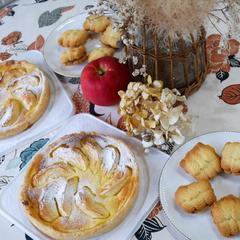 10月洋菓子レッスン りんごのタルト&ティタイムの焼き菓子