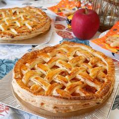 10月アップルパイ ベルギー産オーガニック発酵バターで♪