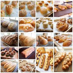 コースで習うパン・お菓子の一部です。