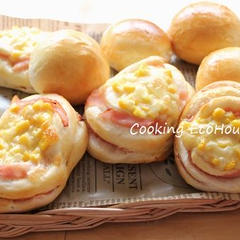 基本のパンレッスン ハムコーンチーズ・テーブルパン