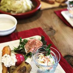 地元お野菜を使った体に優しいランチと一緒に召し上がり下さい