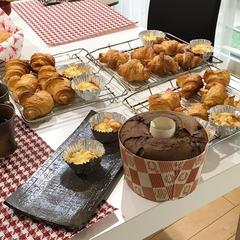 お楽しみクラス クロワッサンとココアのシフォンケーキ!