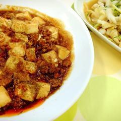 入門クラス〈炒める〉麻婆豆腐 イカとセロリの和え物