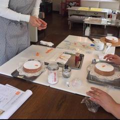 キャロットケーキの仕上げのトッピング作り🥕