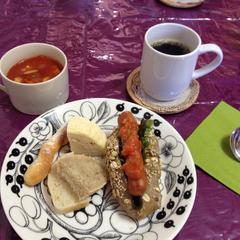 酵母のちぎりドッグパンとご試食パン&スープ。
