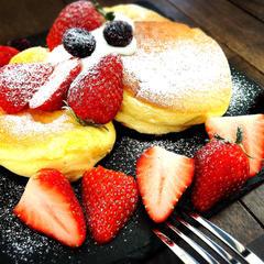 強力粉で作るスフレパンケーキ