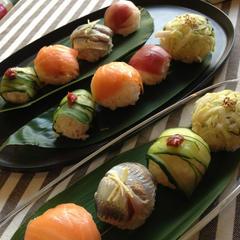 おもてなしコース1回目の人気メニューはてまり寿司