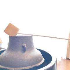 普段は鉄瓶やポット、時には釜と柄杓でもお茶のお稽古ができます