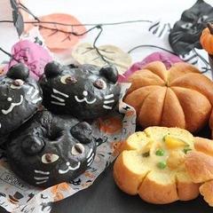 黒ねこあんリング&かぼちゃのシチューポット
