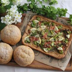春野菜のピッツア&紅茶香るキャラメルビスコッチョ