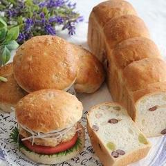 もち麦バーガー&和三盆とかのこ豆のスリム食パン