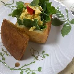 シリコンキューブでブリオッシュ サンドイッチ完成