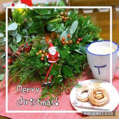 クリスマスリースとチーズリングクッキー