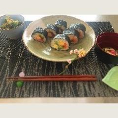 本日の生徒様作:太巻き寿司♪♪午前の部♪
