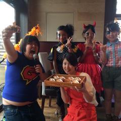 カフェのハロウィンパーティーでパン教室!ガリクソン登場♪♪