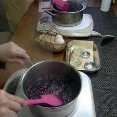 1月のWチーズケーキのレッスンで、ソースも作りました。