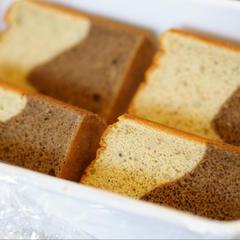 黒豆コーヒーと完熟バナナの米粉シフォンケーキ大好評