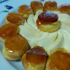 サントノーレ(キャラメリゼしたプチシューのお菓子♪)