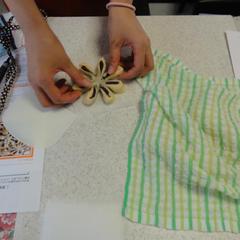 いろいろな成形が学べます☆こちらはお花あんパンの成形です。