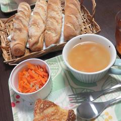 ご試食パン、サラダ、スープの美味しいランチもお付けします♪