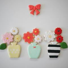 11月のアイシングクッキーレッスンはお花と花瓶です♡