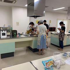 キッチンスタジオの広いスペースを贅沢に使っています