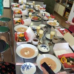 12月の鳥取市でのパーティメニューです。
