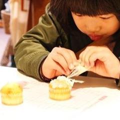 小さなお子さんでも楽しめるあんカップケーキのワークショップ