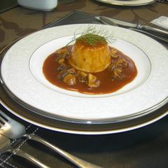 海の幸ムース(温製) マッシュルームソース