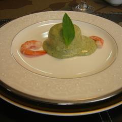 海の幸ムース(冷製) 香草マヨネーズソース