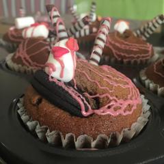 1月レッスン、チョコレートとプルーンのマフィン