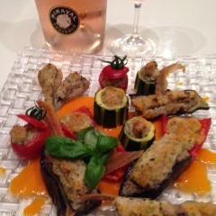 プロヴァンスワインをプロヴァンス風ファルシと共に。