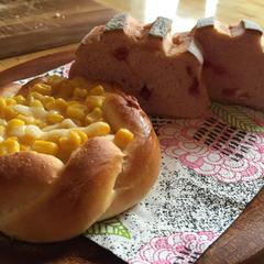 コーンマヨといちごミルクハース