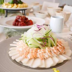 梨と海老の冷菜