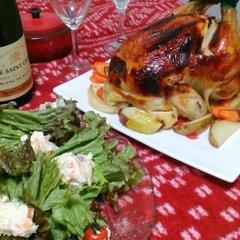 クリスマスは丸鶏チキン