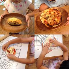 親子でピザ作り🎶