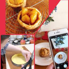 2/19 pm アップルタルト、ジュワッのリンゴとパイ生地