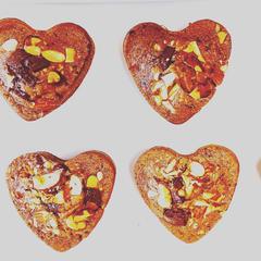 米粉のハート型チョコケーキ