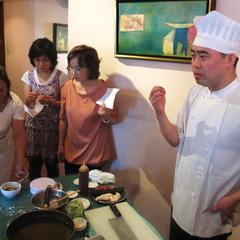 レストランシェフによる料理のレクチュー&ランチ会。