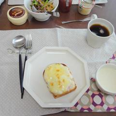 「ミニ食パン」でクロックムッシュ