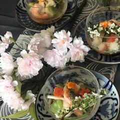 桜の季節ならではのレッスン開催中です。