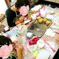 バタークリームのフラワーケーキレッスン♡