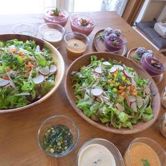 ローフードマイスター準1級(サラダとドレッシング3種など)