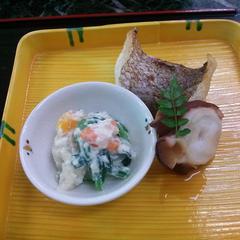 春日鯛の若狭焼き 生蛸の柔らか桜煮