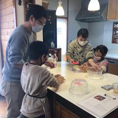 ご家族でパン作り♫子供さんにも体験させたい!って思いが素敵♡