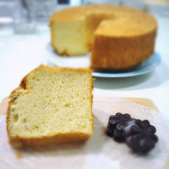 甘酒のシフォンケーキはこんなにふわふわ